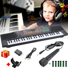 54 Keys Music Electronic Keyboard Kid Electric Piano Organ W/Mic & Adapter +Gift