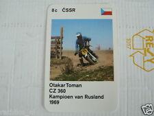 23 MOTO-CROSS 8C CSSR OTAKAR TOMAN CZ 360 MX KWARTET KAART, QUARTETT CARD,