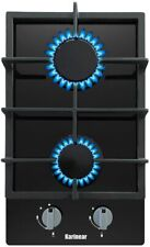 Gas Cooktop Tempered Glass Built in Gas Stove Cooker Kitchen 2 Burners Gas Hob