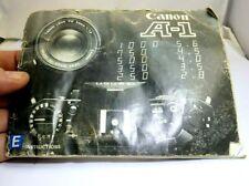 Canon A-1 Cámara Manual Instrucciones Genuino (En) Inglés - Malas Condición