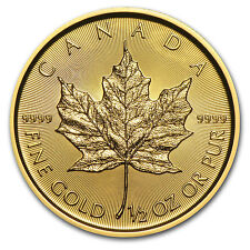 2016 Canada 1/2 oz Gold Maple Leaf BU - SKU #93748