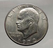 1972 President Eisenhower Apollo 11 Moon Landing Dollar USA Coin Denver  i46171