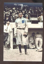 REAL PHOTO DETROIT TIGERS BASEBALL PLAYER TY COBB BASEBALL PLAYER POSTCARD COPY