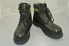 CATERPILLAR BLACK ANKLE BOOTS (UK9) STEEL TOE CAP GOODYEAR WELTED CONSTRUCTION