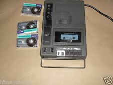 Eiki Cassette Tape Player Portable Black 120VAC 60Hz 10W 9VDC 3270A+ 3 Sony Tape