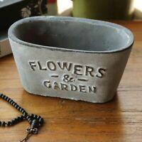 Cement Flowerpot Silicone Mold Garden Concrete Potted Garden Planter Mould