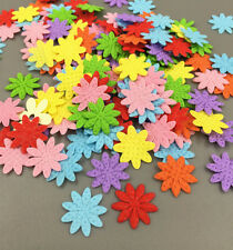 500pcs  Mini Felt flower Mixed Colors Appliques Craft Cardmaking decoration 13mm