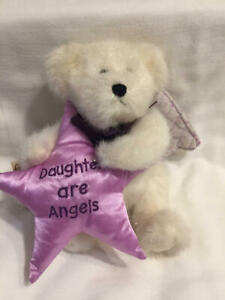 """BOYDS BEAR Plush Angie B. Loved DAUGHTERS ARE ANGELS Poseable 8"""" Jointed Retired"""