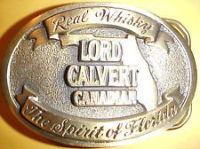 "Lord Calvert Canadian ""The Spirit of FLORIDA"" Brasss Belt Buckle"