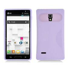 LG Optimus L9 T-Mobile P769 Hybrid Case Skin Pastel Cover Light Purple