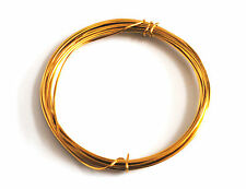1x Gold Plated Wire Copper Cored 1.2mm x 3m. Hobby, Jewellery, Modelling. X1123