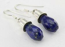 LAPIS LAZULI EARRINGS 925 STERLING SILVER ARTISAN JEWELRY COLLECTION R702A