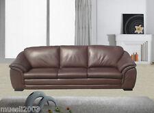 Designer Leder-Sofa-3 Sitzer Garnitur Couch neu 403-S