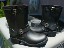 New Tommy Hilfiger Womens Sz 8 M Black  Rubber Mid Calf Rain Boots NWOB!