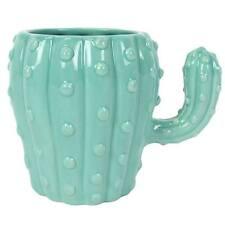 LIGHT GREEN CACTUS MUG BOHO NOVELTY CUP BOXED 13 X 10CM WIDE CERAMIC BB_18016*
