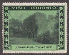 Canada Visit Toronto Tourism Colonial Ruins The Old Mill Poster Stamp 1939