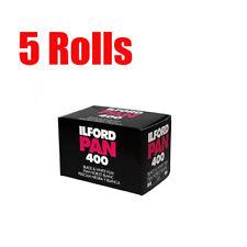 5 Rolls Ilford 400 Ilford Pan 400 35mm 135-36  Black&White Print Film Fresh 2023