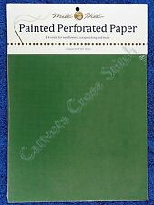 Perforated Paper for Cross Stitch Green 14 Count Mill Hill Painted