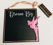 PRIMARK DISNEY TINKERBELL DREAM BIG SQUARE CHALK BOARD - Brand New