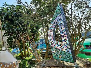 modern Mosiac garden art  Sculpture unique hand made in cornwall