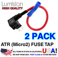 2 Pack Micro2 ATR APT Add-A-Circuit Lumision Fuse Tap Lot Dash Cam Radar Install