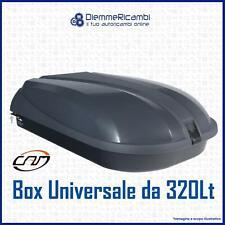 BOX BAULE AUTO DA TETTO PORTAPACCHI PORTATUTTO 320 LT PORTABAGAGLI UNIVERSALE