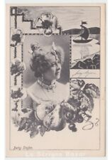 BETTY STOJAN foto cartolina donna cantante operetta belle epoque art nouveau