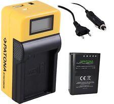 Premium Patona batterie bln-1 + LCD Chargeur pour Olympus OM-D, OMD, e-m5, em5