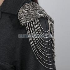 1 Pair Vintage Organza Tassel Bead Punk Brooch Epaulet Shoulder Board Mark