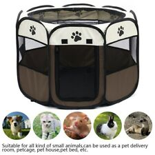 8 Panel Pet Playpen Dog Puppy Cat Round Crate Cage Tent Kennel Exercise Portable
