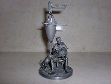 LEAD SOLDIER giocattolo Squire e il suo cane, da collezione, idea regalo, decorazione, fatto a mano