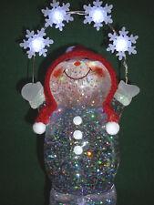 Hallmark Bag Snowman Juggling Snowflakes Snow Globe Motorized FREE Ship NEW