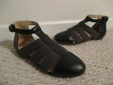 Wolverine 1000 Mile Digby Gladiator sandal black Samantha Pleet Size 6 NEW