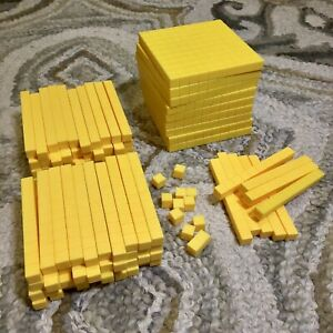 Lot of Base Ten Number Concept Math Counting Base 10 Blocks Yellow Manipulatives
