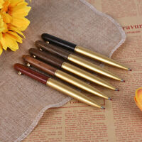 Metal Wooden Rotate Signing Pen Upscale Business Gift Stationery Ballpoint P.LDD