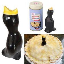 Vented Pie Bird Black Funnel Steam Release Glazed Ceramic Birds NIB Baking Tool