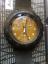 Uhr Original SWATCH Aqua Chrono AC BROWN (SBB102)-Optisch wie NEU! Scuba-Braun