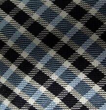 Bow Tie Men Silk LIGHT BLUE Plaid REVERSIBLE SELF TIE Bowtie