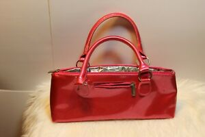NWT PRIMEWARE LADIES INSULATED PURSE RED VINYL COLD WINE/BEER CARRIER
