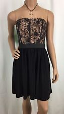 Elle Black & Mauve Strapless Sundress Womens Size 6