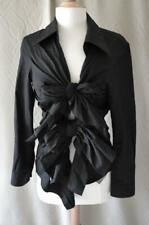 Comme des Garcon Black L/S Cotton Women's Blouse w/Ties Size  Small