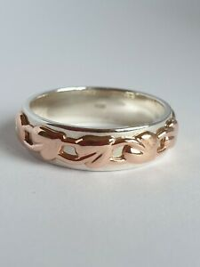 Beautiful Clogau Tree Of Life Cariad Ring Silver & Welsh Gold Hallmarked Not.