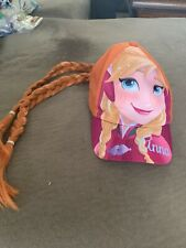 Disney Frozen Anna Cap With Attached Braids