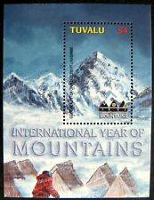 2002 MNH TUVALU YEAR OF THE MOUNTAINS STAMPS SOUVENIR SHEET LANDSCAPE SCENERY