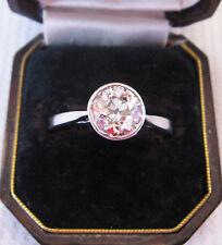 Solitaire Diamond Ring set in Solid Platinum