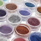 24 Colors Metal Shiny Fine Glitter Acrylic UV Powder Polish Set Nail Art Kit