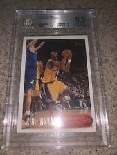 1996-97 Topps Kobe Bryant Rookie RC #138 BGS 8.5 w 9 Subs Los Angeles LA Lakers