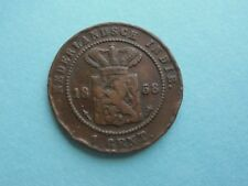 Netherlands East Indies, 1858 One Cent, in Good Condition.