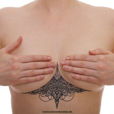2 x sexy Underboob Tattoo schwarz - einmal Tattoo - Sommer Unterbrust Tattoo