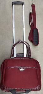Samsonite Carry On Suit Case Luggage Burgundy Zip Underseater Wheeled